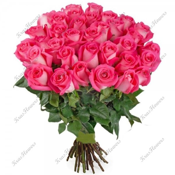 Букет из розовых роз сорт Topaz