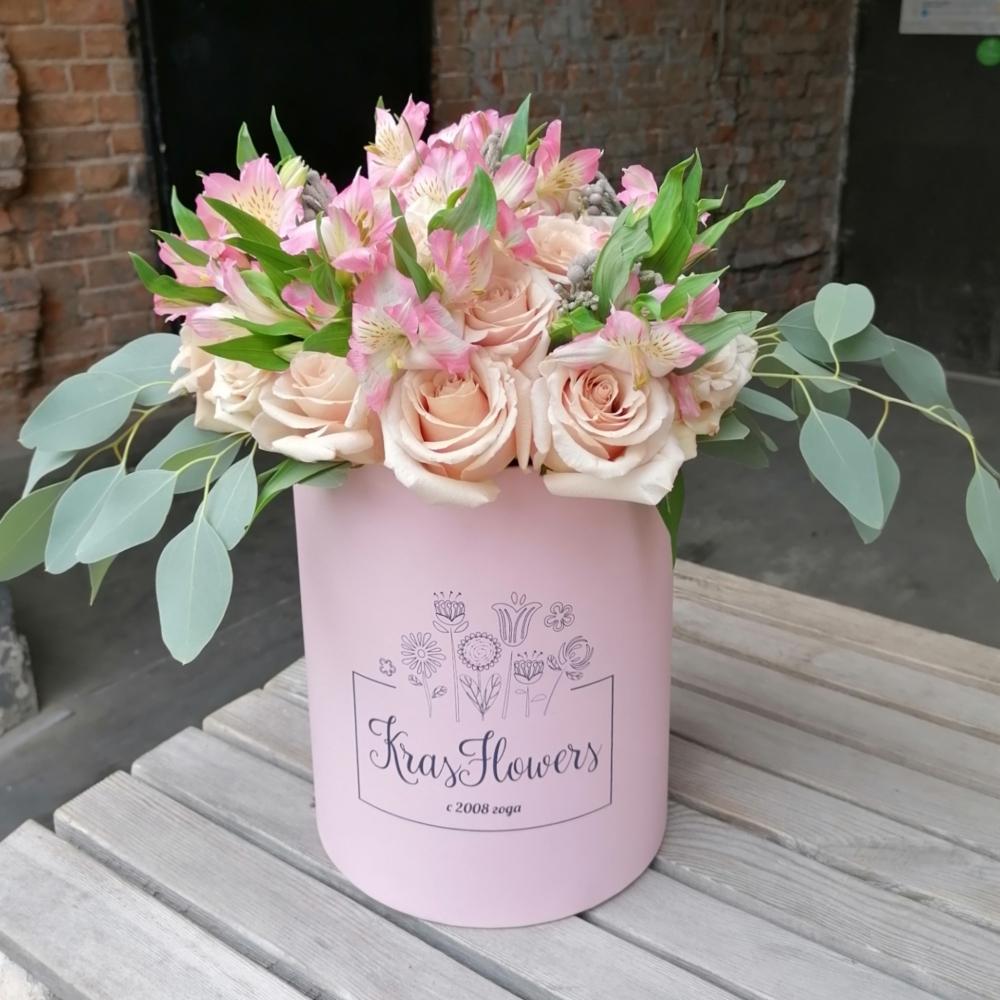Цветы в коробке 504