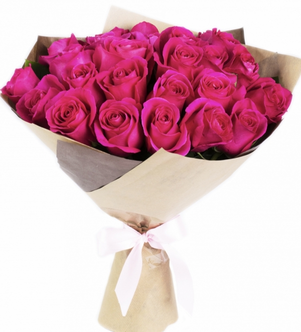 25 роз Пинк Флойд в крафте