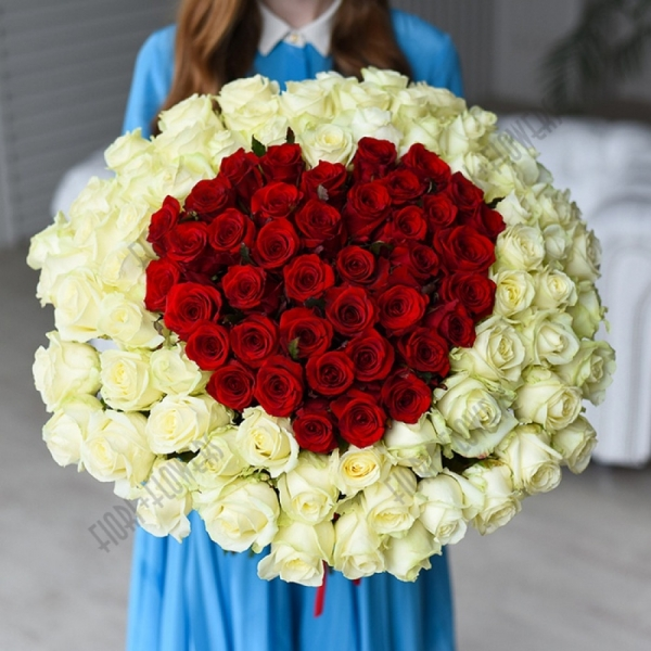 """Букет 196 """"Красное сердце"""""""