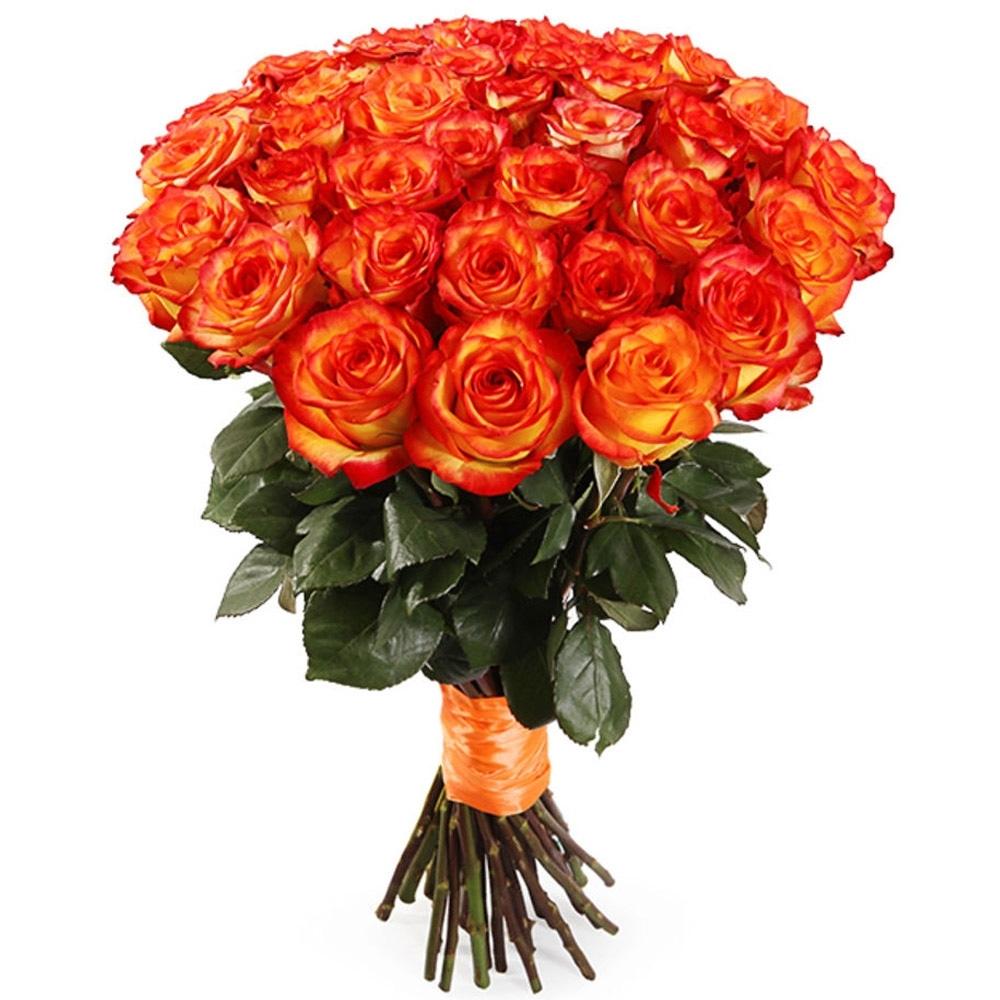 Букет из оранжевых роз High Magic